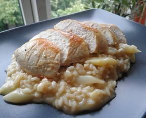 kylling og aspargesrisotto