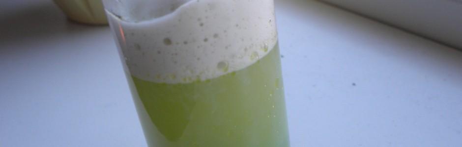 Cucumber shooter med ærtekaviar - kustige kaviar