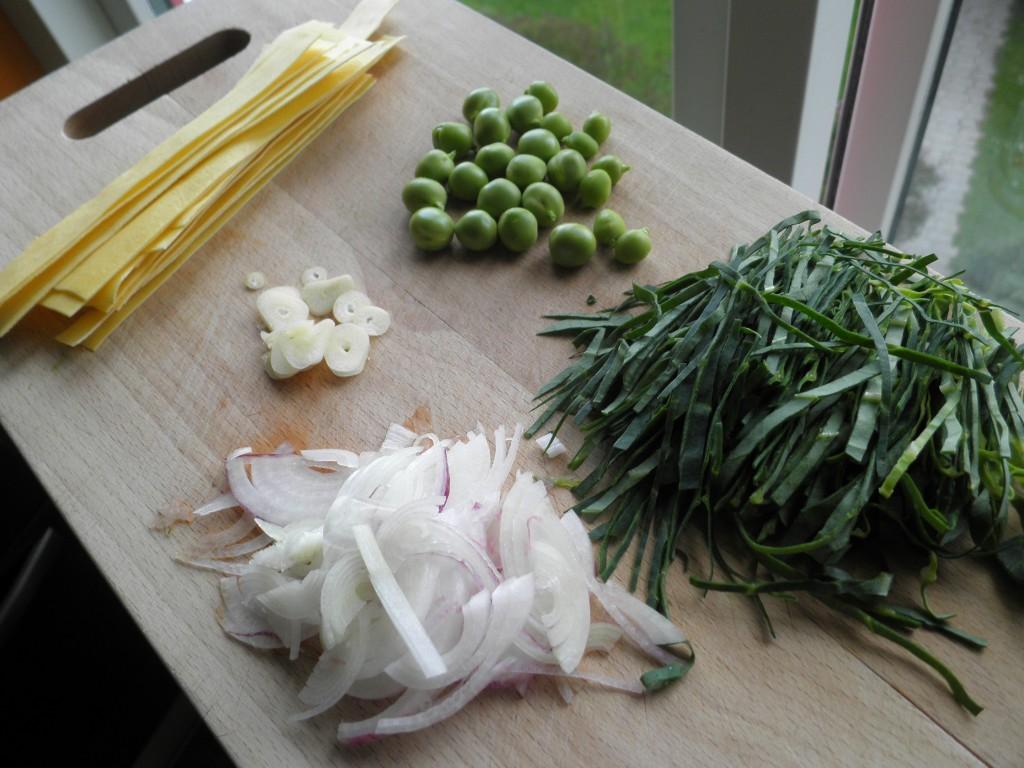 Ingredienser til hjemmelavet pot nudles