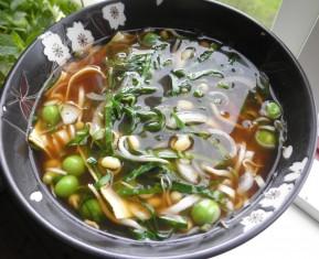 Hjemmelavet pot nudles / nudelsuppe