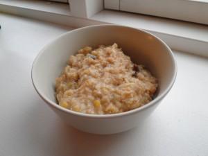 Müsligrød - grød på müsli og revet æble
