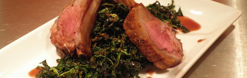 lammerack med savoykål og portvinsauce - sauce / sovs på portvin