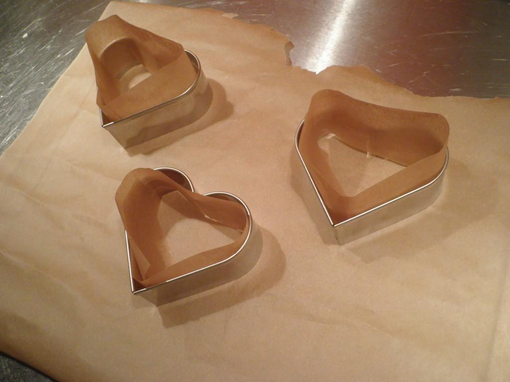 Hjerte forme til valentine cheese cake med mascarpone creme og jordbær