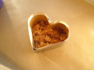 Mørdej bund til valentine cheese cake med mascarpone creme og jordbær