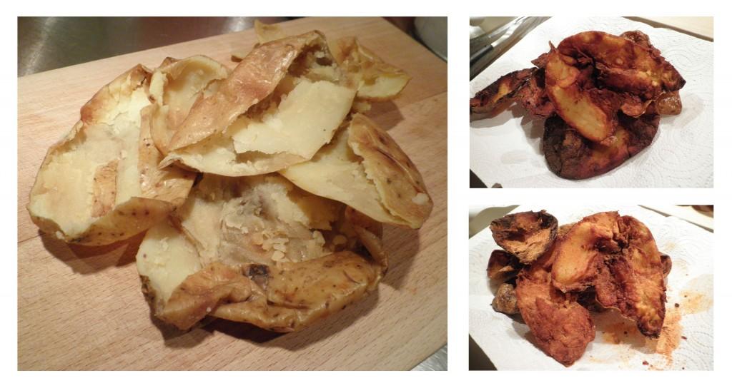 potato skins - dybtegte kartoffelskræller. Soul food med bbq smag