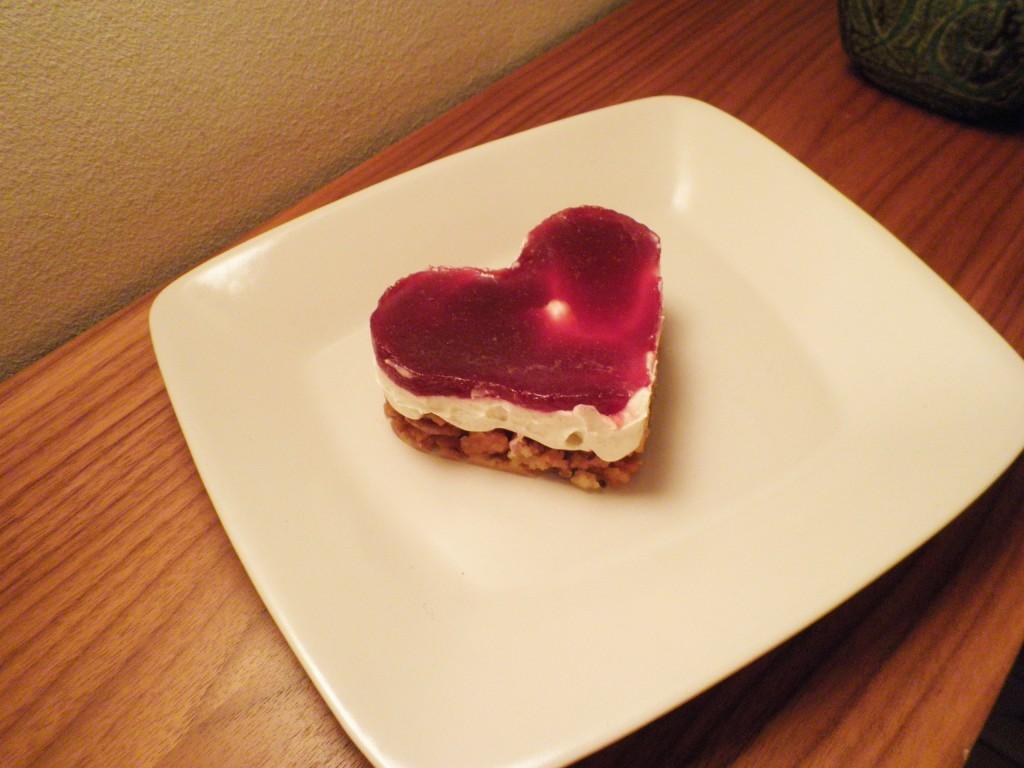 Valentine's day cheese cake - valentines dag kage med mascarpone creme og jordbær