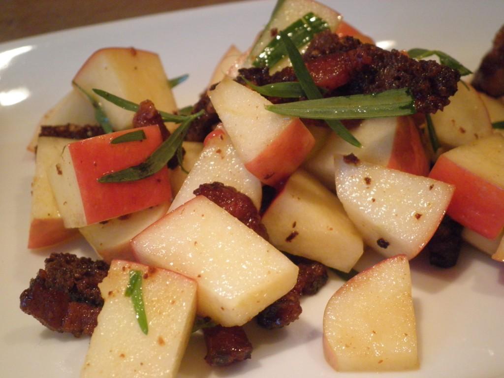 Æble, bacon, rugbrød og estragon