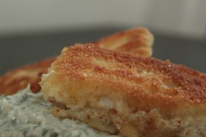 Fish 'n' chips - paneret lyssej perfekt til pomfritter og tartare sauce
