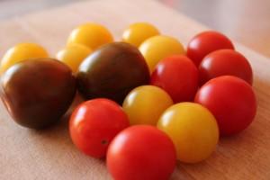 Cherrytomater af forskellig slags