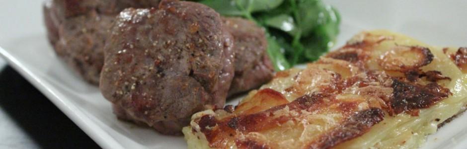 Lammefilet og en luksusversion af flødekartofler