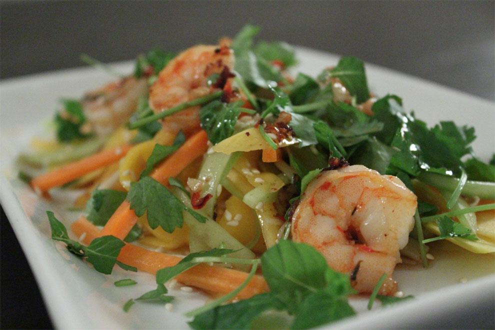Vietnamesisk Mangosalat Med Rejer Love Food Love Cooking