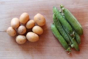 råvarer - kartofler og ærter