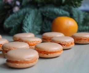 Macarons med klementinsmag - perfekt alternativ i julen