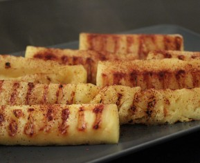 Grillet ananas med chili - hot & sweet snack