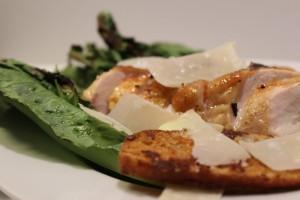 grillet cæsar salat